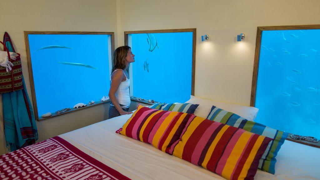 manta resort unterwasser hotel Zimmer
