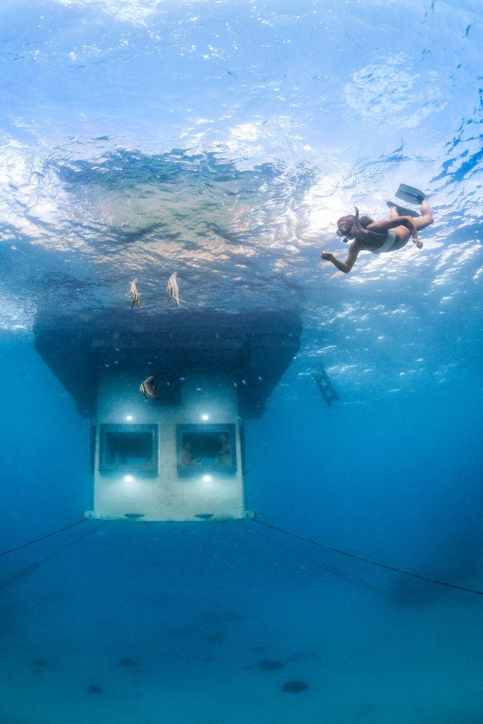 manta resort unterwasser zimmer