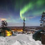 Glas Iglu Hotel - Glasiglu Polarlichter Finnland