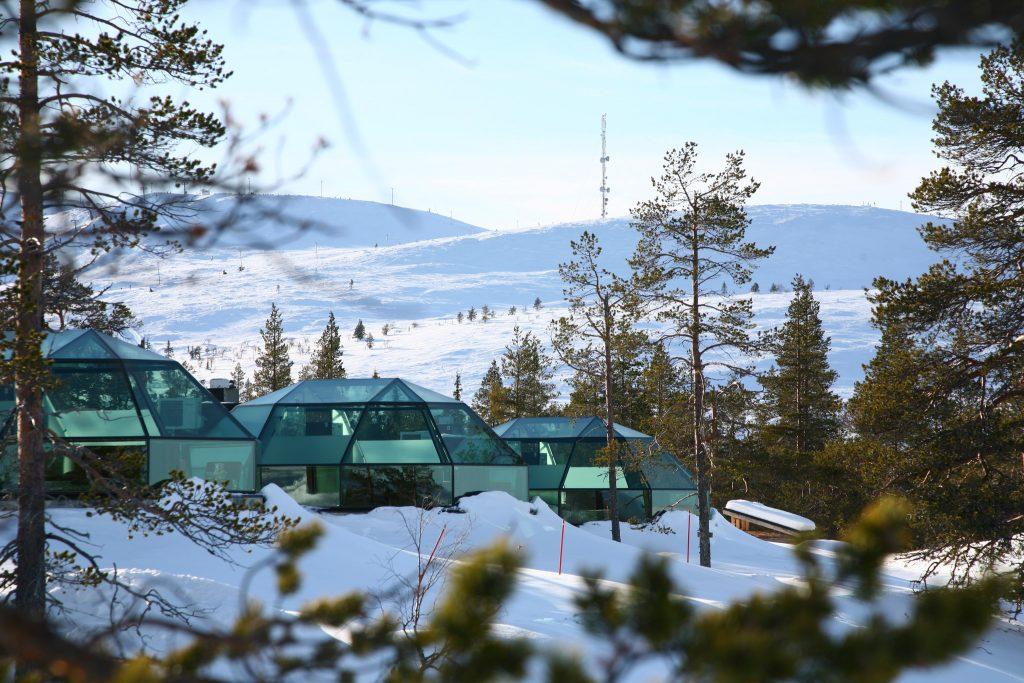 glas iglu hotel finnland