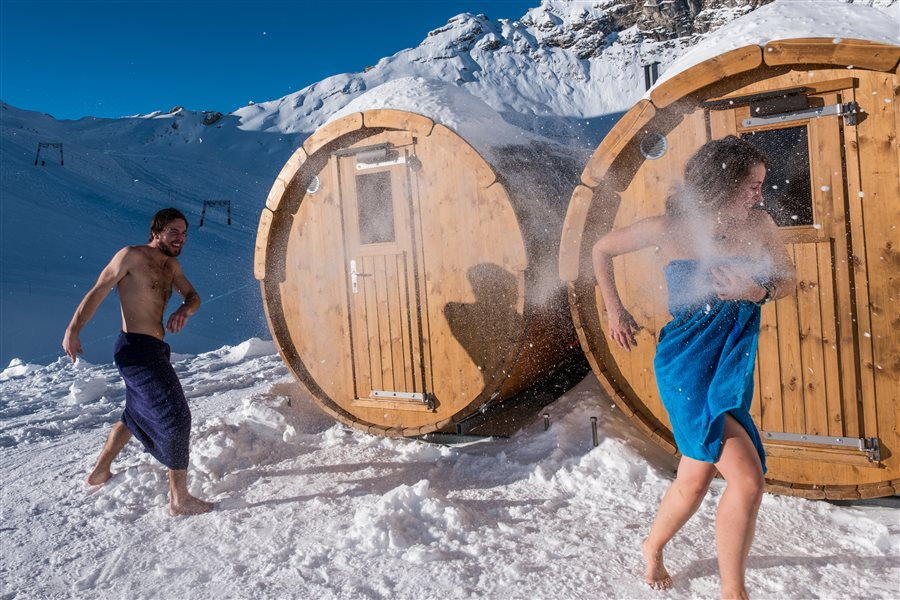 Iglu übernachtung mit sauna