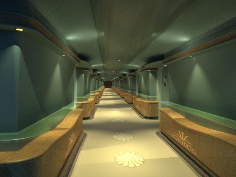 Koridor Unterwasser-Hotels