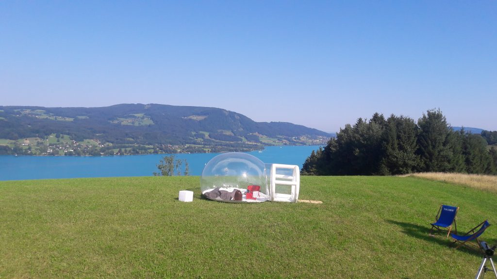 Glamping im Bubble Tent in Österreich