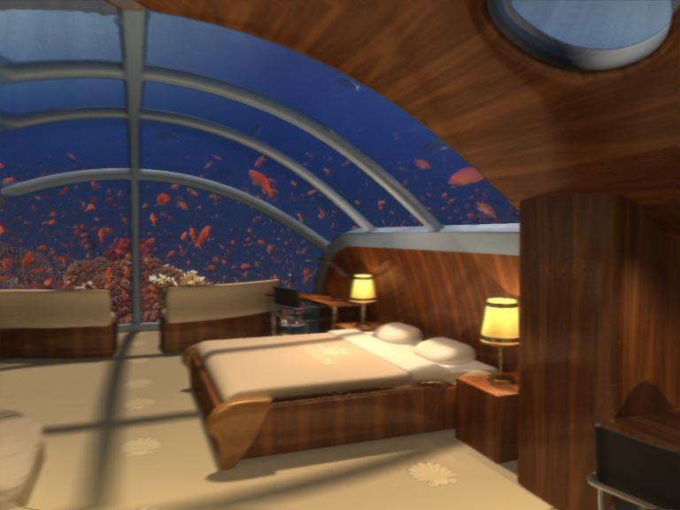 Schlafzimmer Unterwasser-Suiten