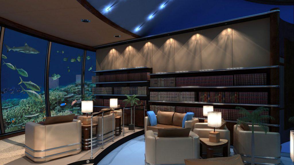 Unterwasser Bibliothek
