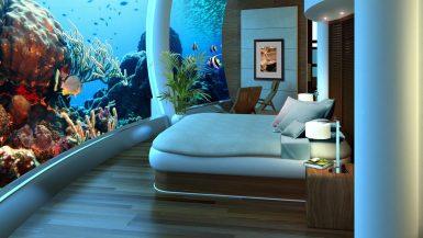 Das Unterwasser Hotel Schlafzimmer