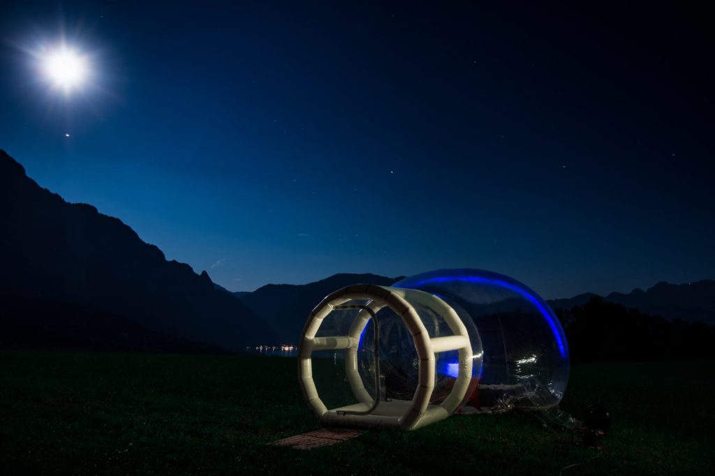 Glamping im Bubble