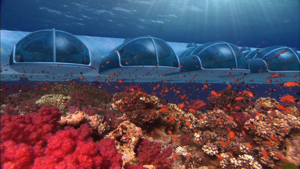 Luftschloss unter Wasser