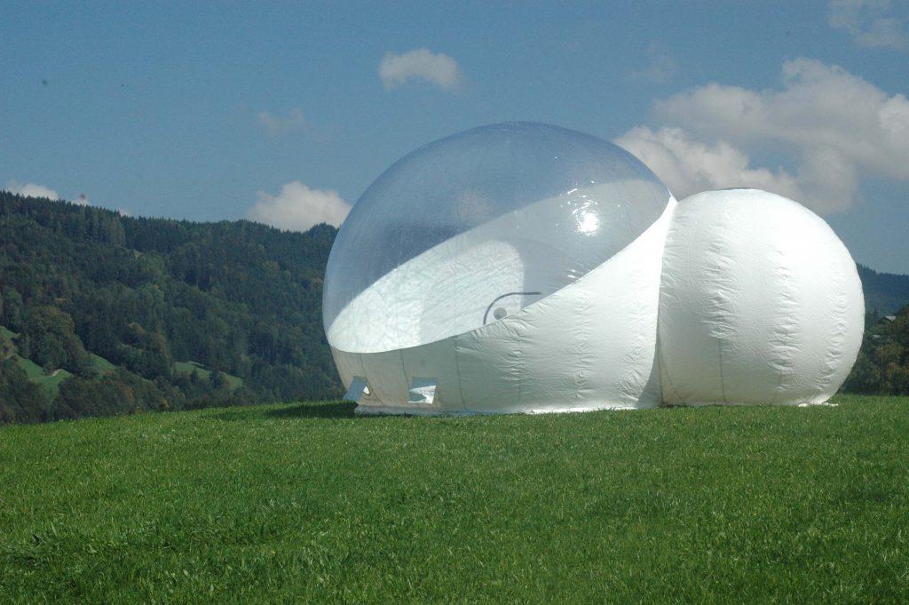 bubble tent übernachtung