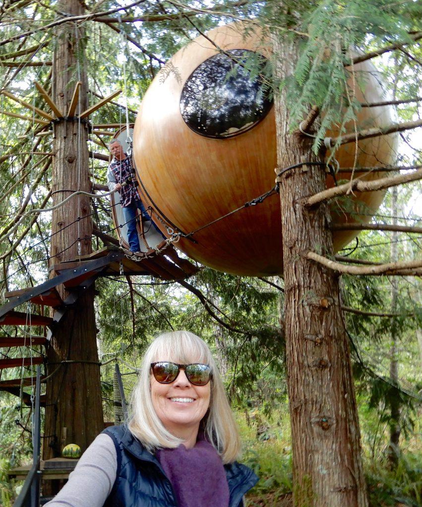Glamping im Baumhaus auf Vancouver Island