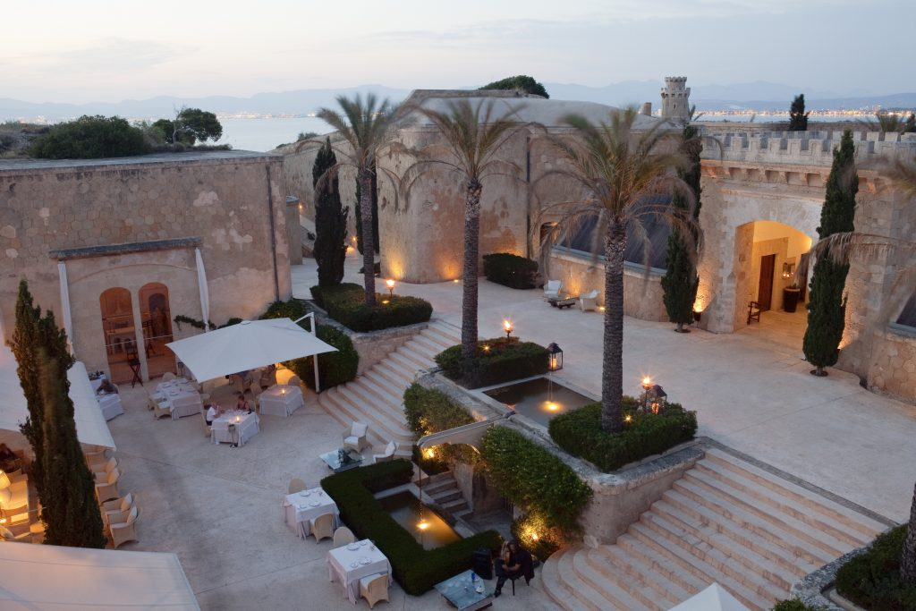 Courtyard at Cap Rocat