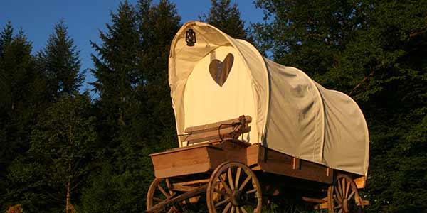 cabane et chariot